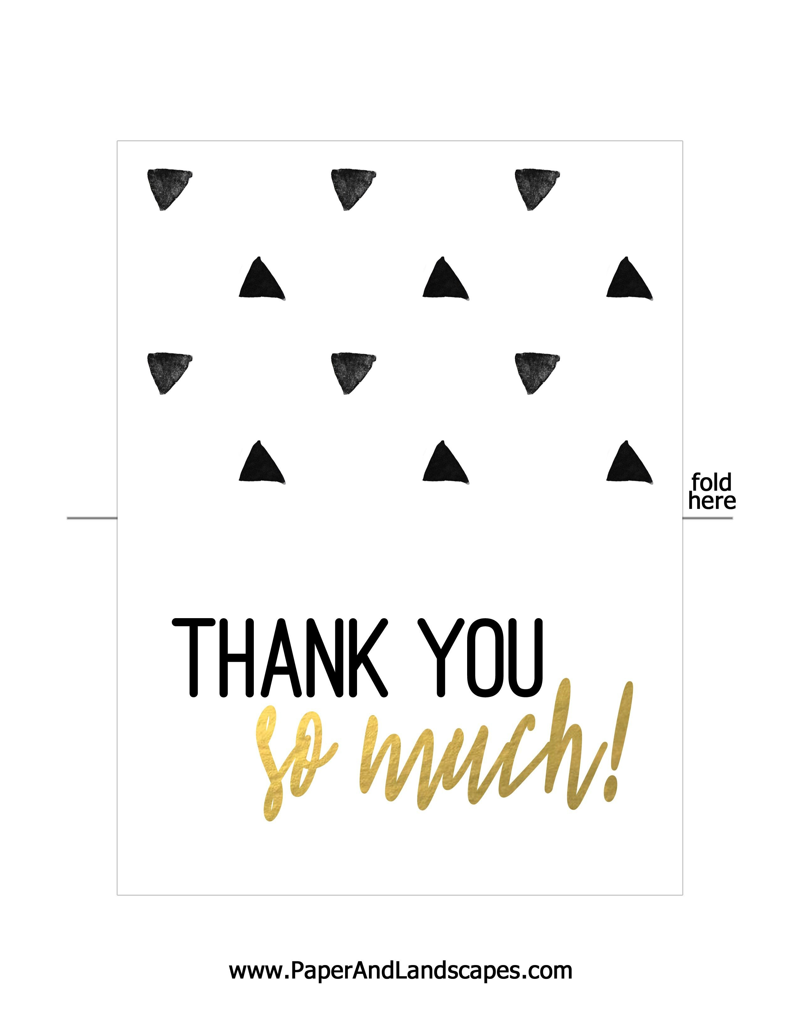 Free Printable Thank You Cards | Messenges - Free Printable Thank You