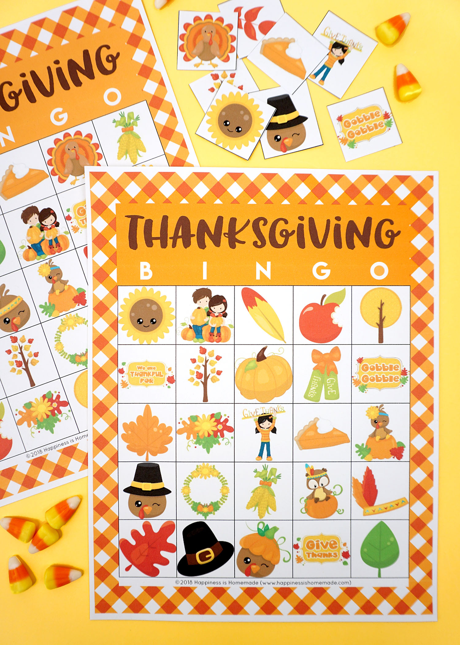 Free Printable Thanksgiving Bingo Cards - Happiness Is Homemade - Free Printable Bingo Games