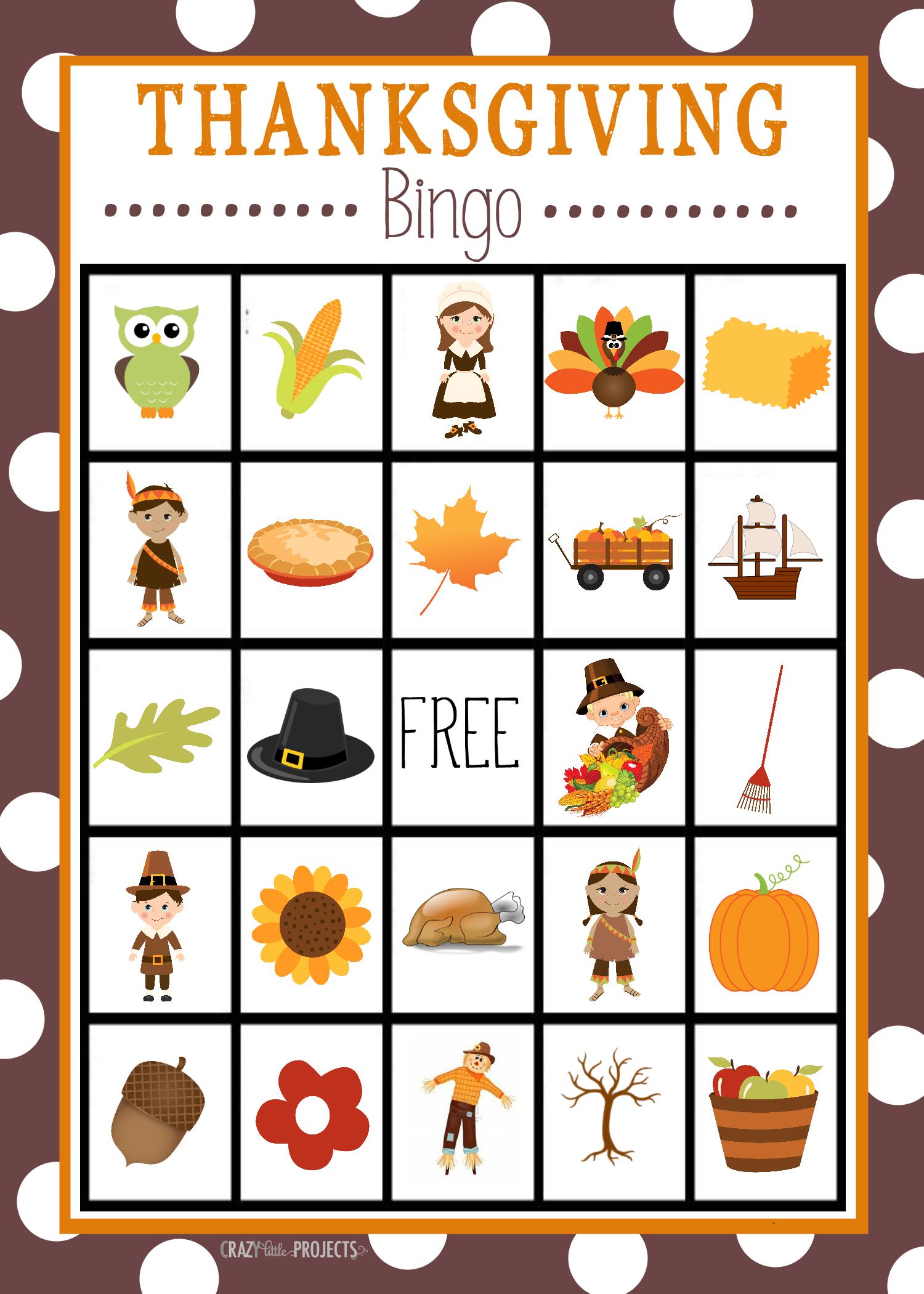 Free Printable Thanksgiving Bingo Game | Craft Time | Pinterest - Free Printable Bingo Cards For Large Groups