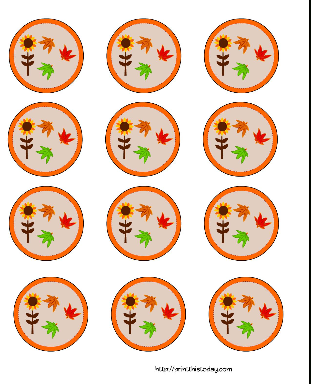 Free Printable Thanksgiving Cupcake Toppers - Thanksgiving Cupcake Toppers Printable Free