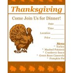 Free Printable Thanksgiving Flyer Invintation Template | Holiday's   Free Printable Thanksgiving Menu Template