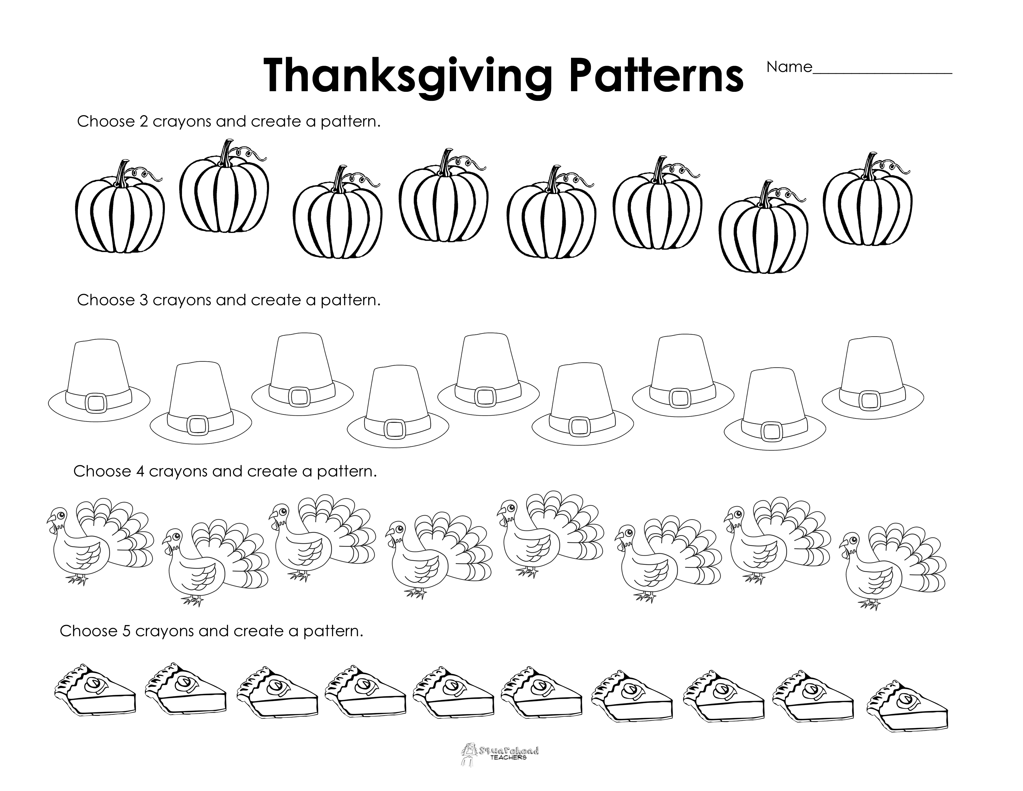 Free Printable Thanksgiving Worksheets For Preschoolers - 8.13 - Free Printable Thanksgiving Worksheets