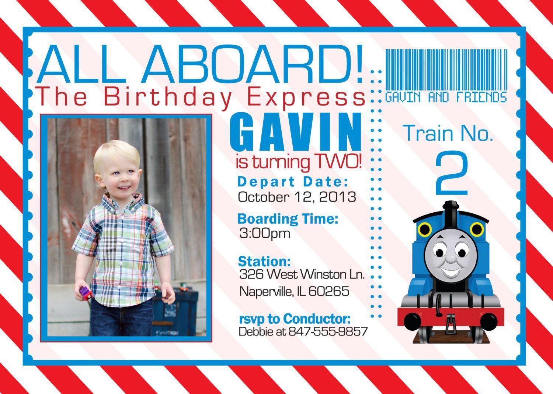 Free Printable The Train Birthday Invitations Ticket Invitation Card - Thomas Invitations Printable Free