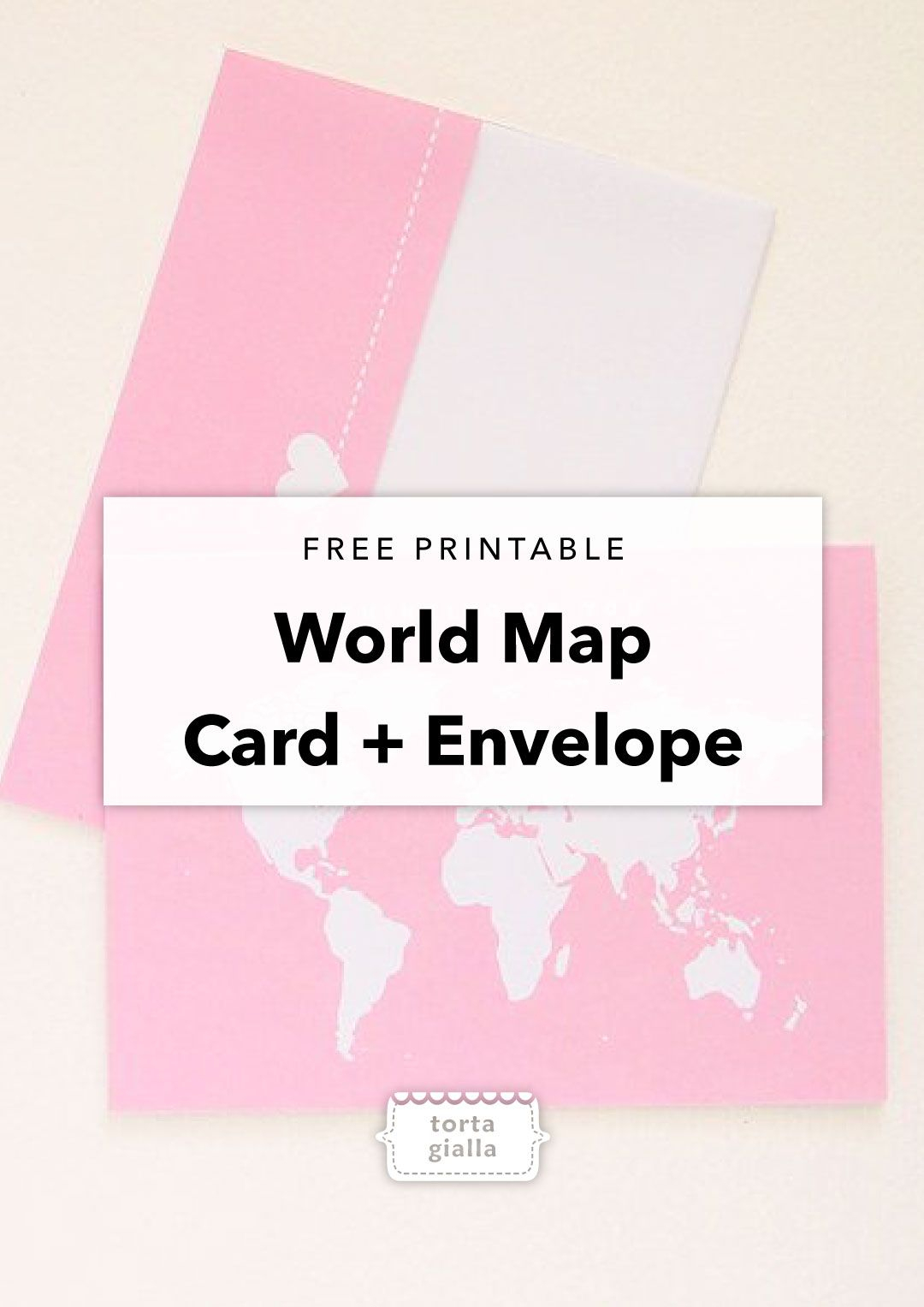 Free Printable Thinking Of You World Map Card And Envelope - Free Printable Funny Thinking Of You Cards