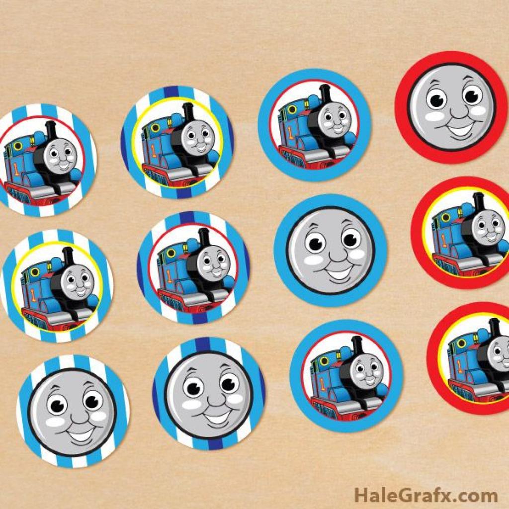 Free Printable Thomas The Train Cupcake Toppers | Free Printable - Free Printable Thomas The Train Cupcake Toppers