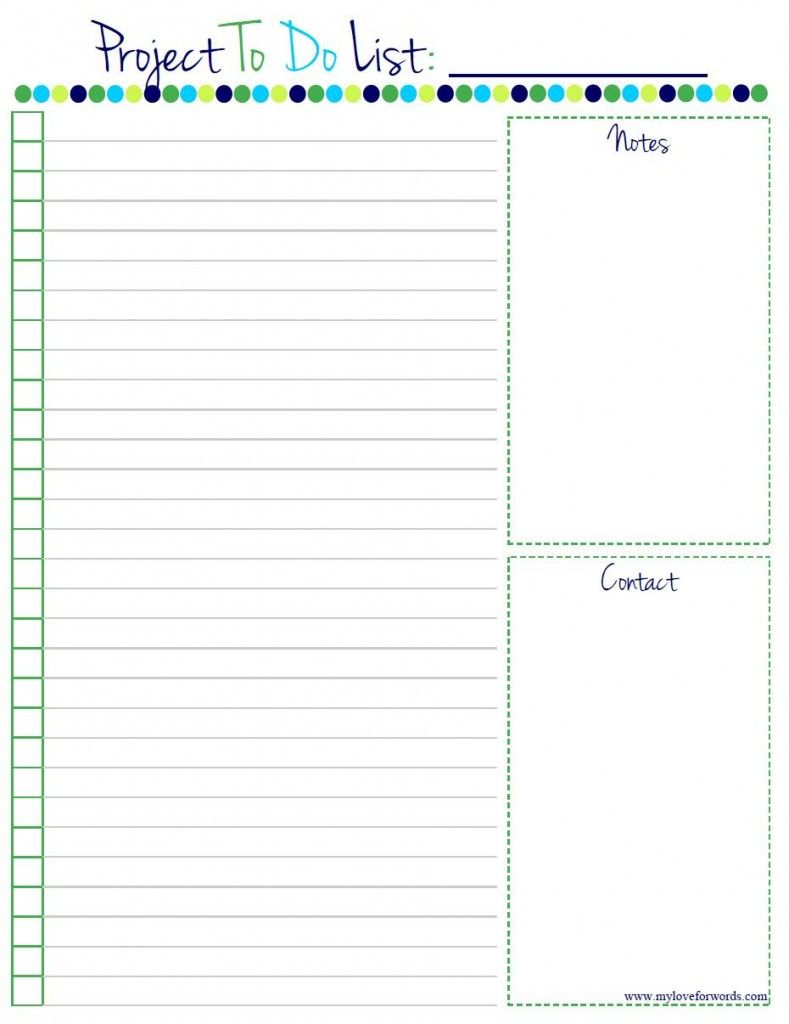 Free Printable To Do Lists | Room Surf - Free Printable List