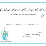 Free Printable Tooth Fairy Certificate Template Lovely Tooth   Free Printable Tooth Fairy Certificate