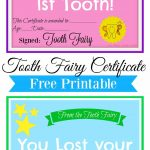 Free Printable Tooth Fairy Certificate | Tooth Fairy Ideas | Tooth   Free Printable Tooth Fairy Certificate