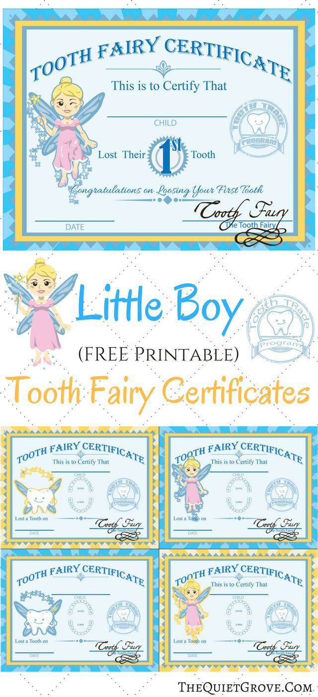 Free Printable Tooth Fairy Certificates | Fabnfree // Freebie Group - Free Printable Tooth Fairy Certificate