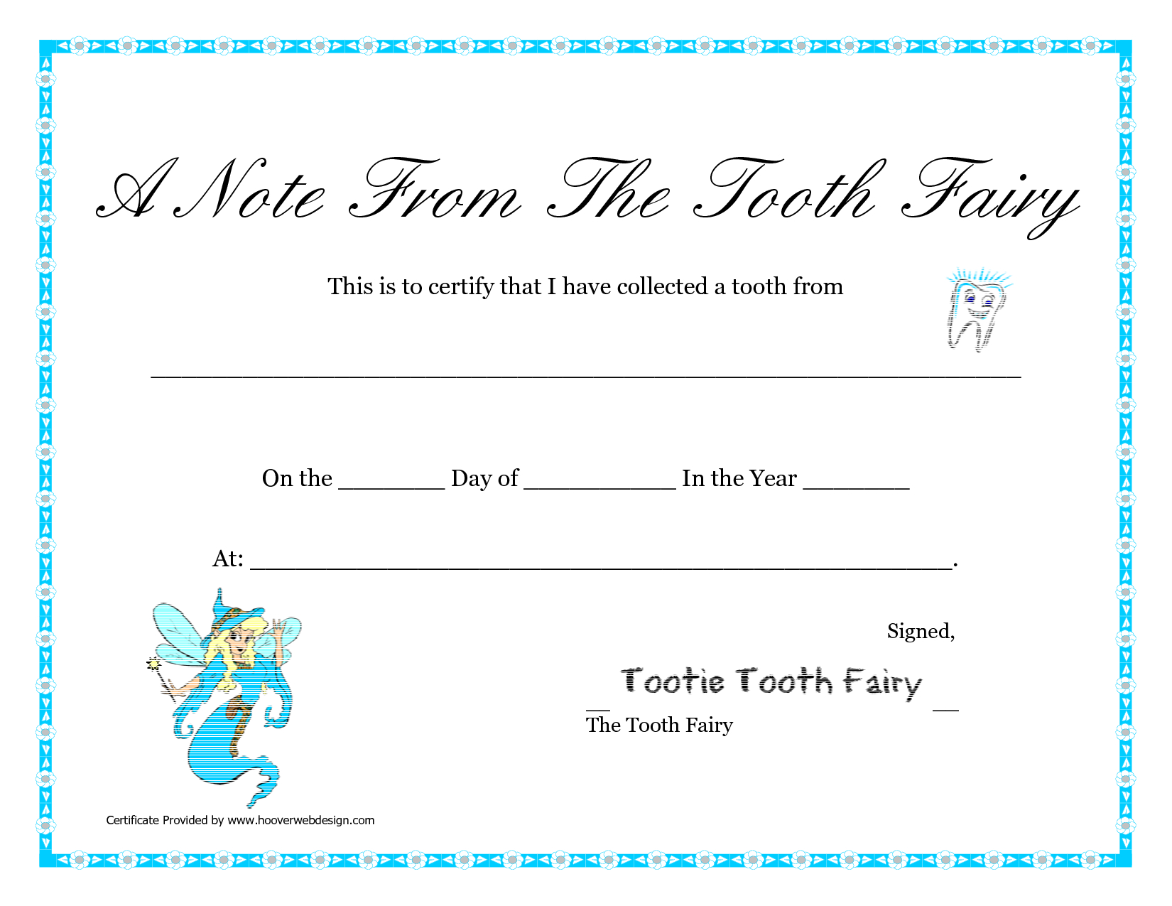Free Printable Tooth Fairy Letter | Tooth Fairy Certificate - Tooth Fairy Stationery Free Printable