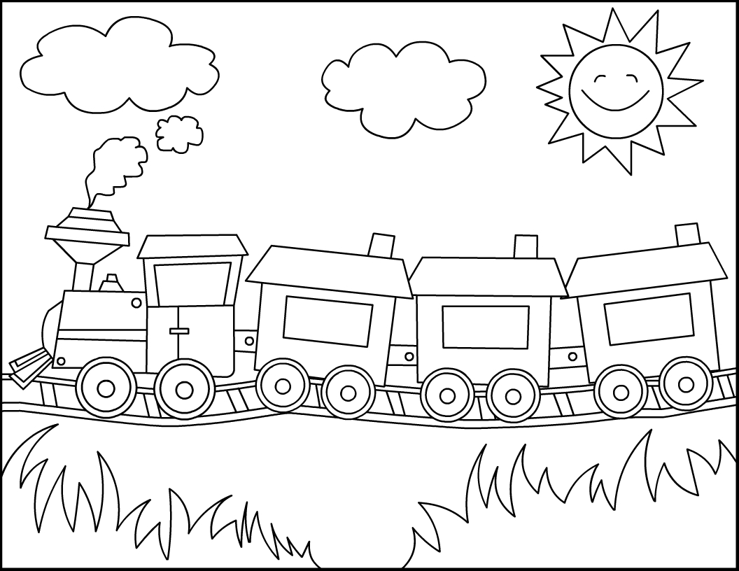 Free Printable Train Coloring Pages For Kids   Joel Ideas   Train - Free Printable Train Pictures