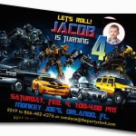 Free Printable Transformer Birthday Invitations Free Printable – Transformers Party Invitations Free Printable