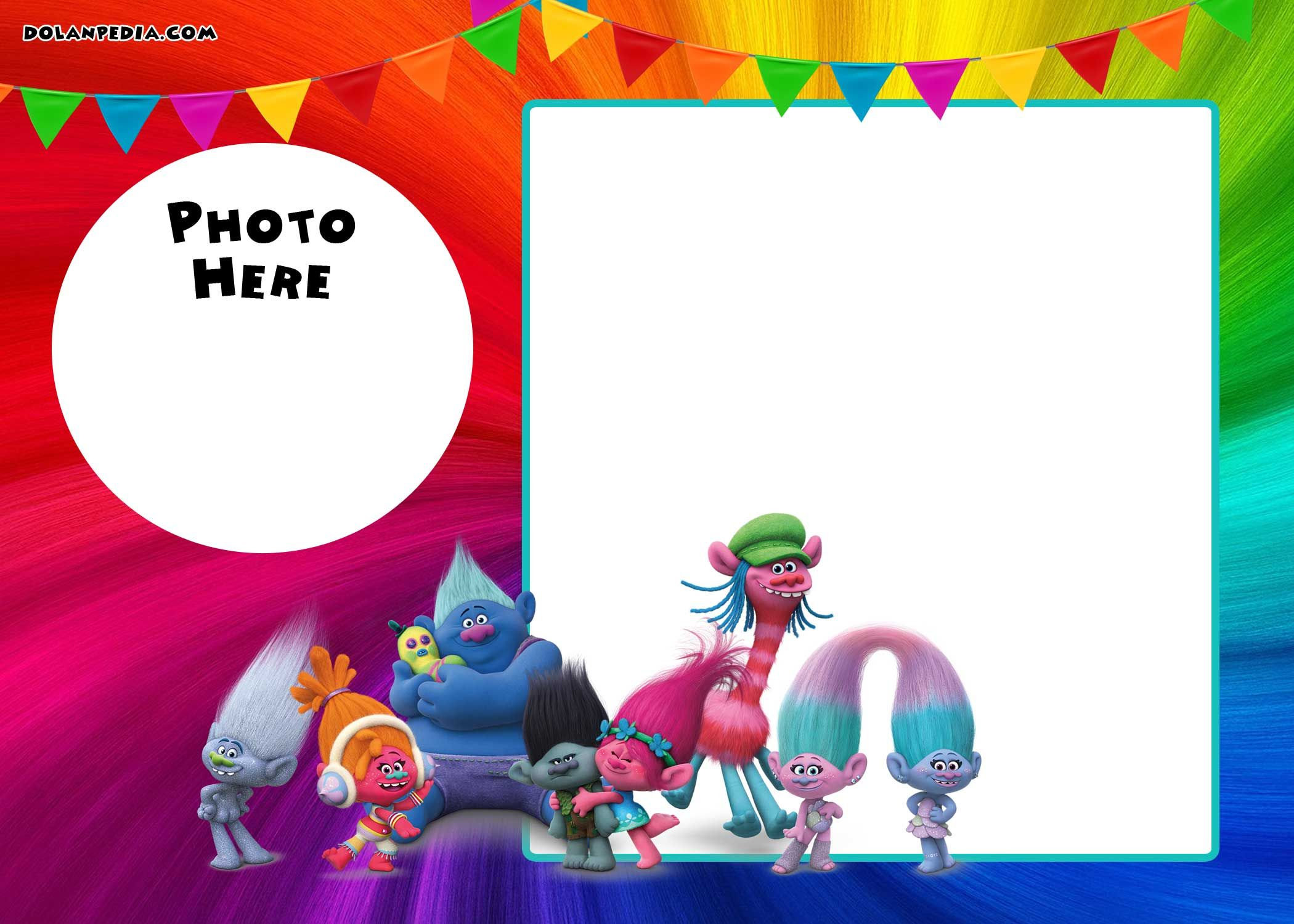 Free Printable Trolls Invitation Template | Drevio Invitations - Free Printable Trolls