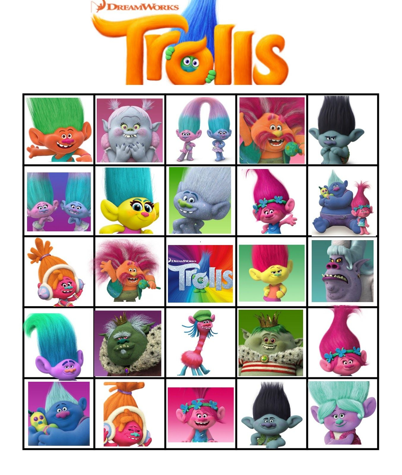 Free Printable Trolls Movie Bingo | Trolls Printables | Pinterest - Free Printable Trolls