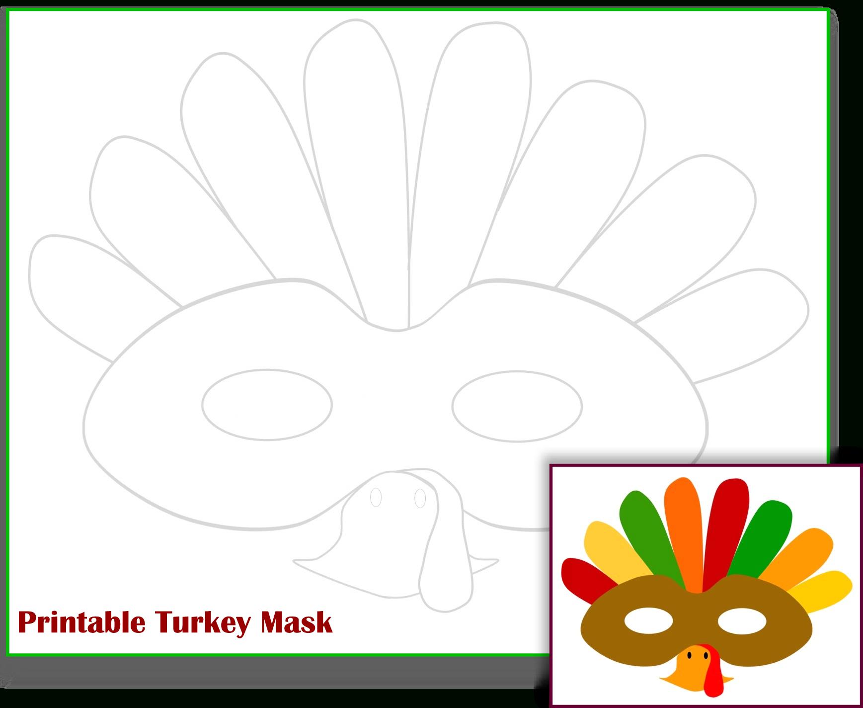 Free Printable Turkey Mask Template | The Mama Zone - Free Printable Turkey Template