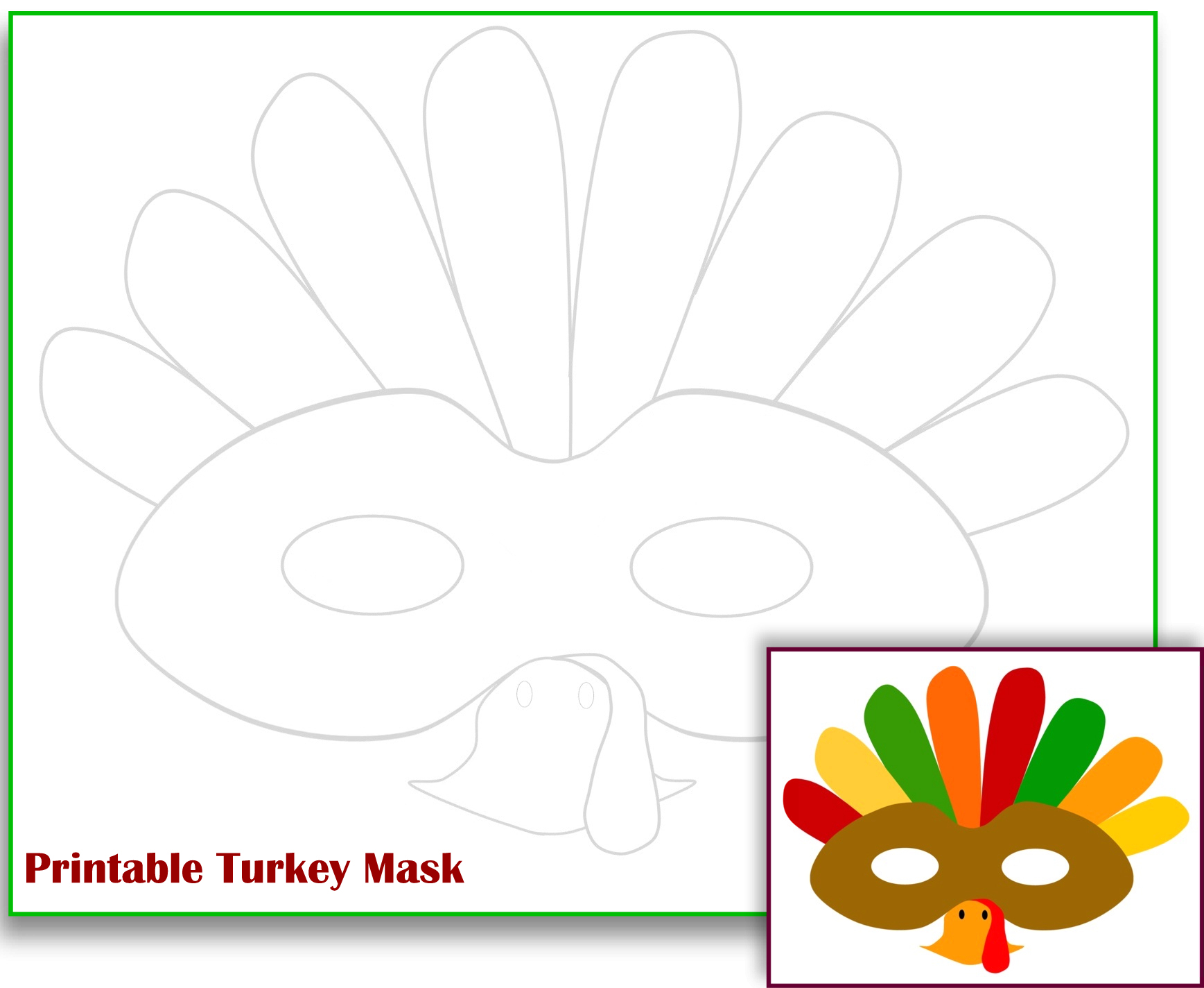 Free Printable Turkey Template - Accraconsortium - Free Turkey Cut Out Printable
