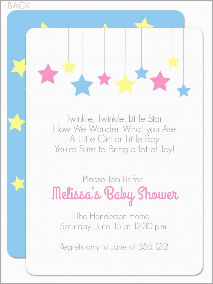 Free Printable Twinkle Twinkle Little Star Baby Shower Invitations