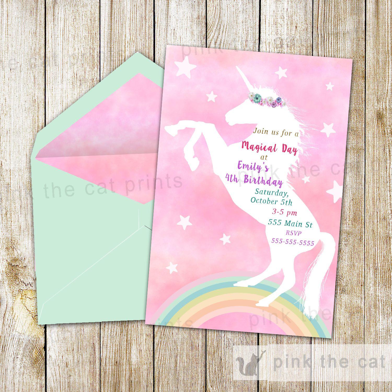 Free Printable Unicorn Invitations | Freebies | Unicorn Invitations - Free Printable Unicorn Invitations