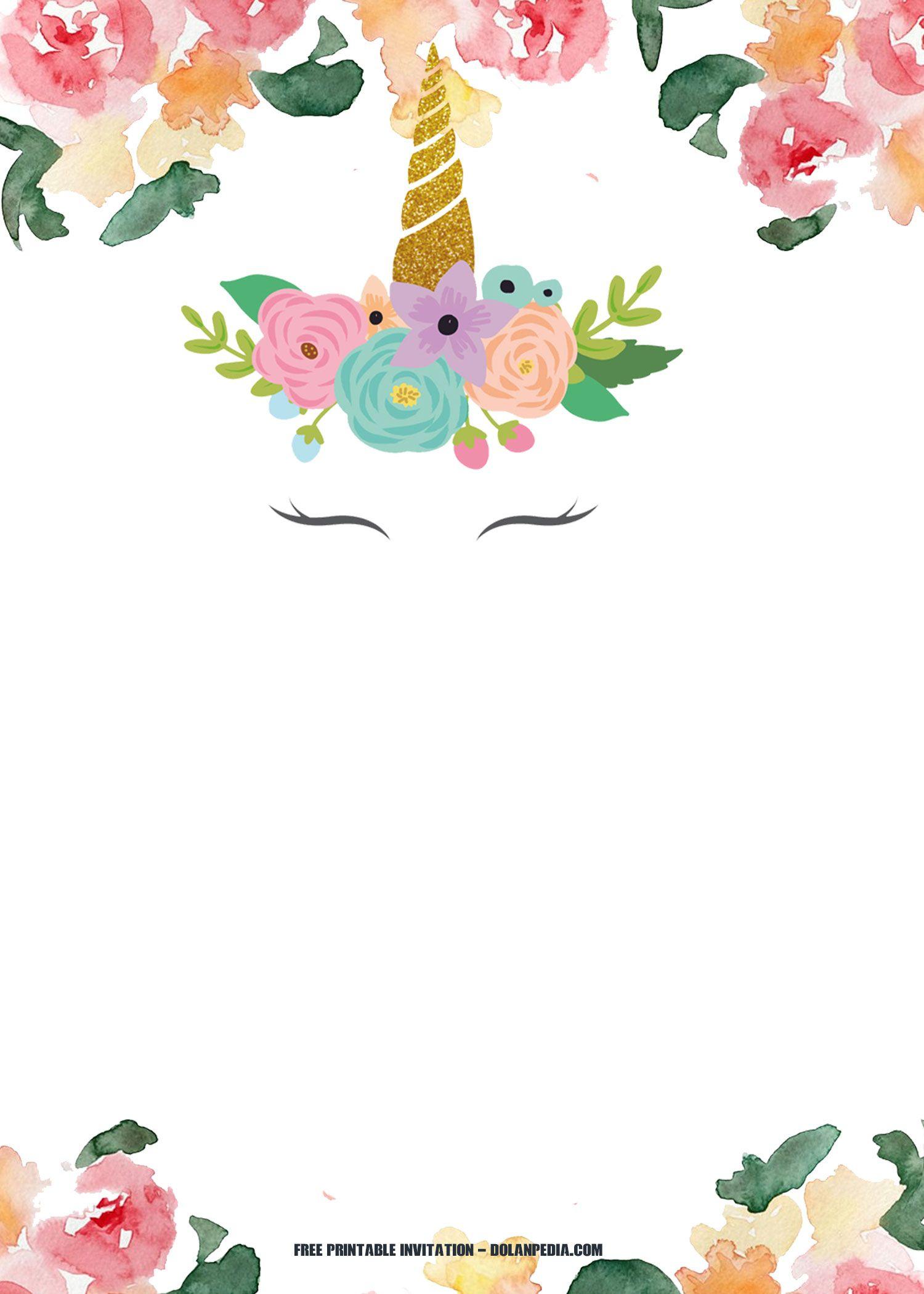 Free Printable Unicorn Rainbow Invitation | Free Printable - Free Printable Unicorn Invitations
