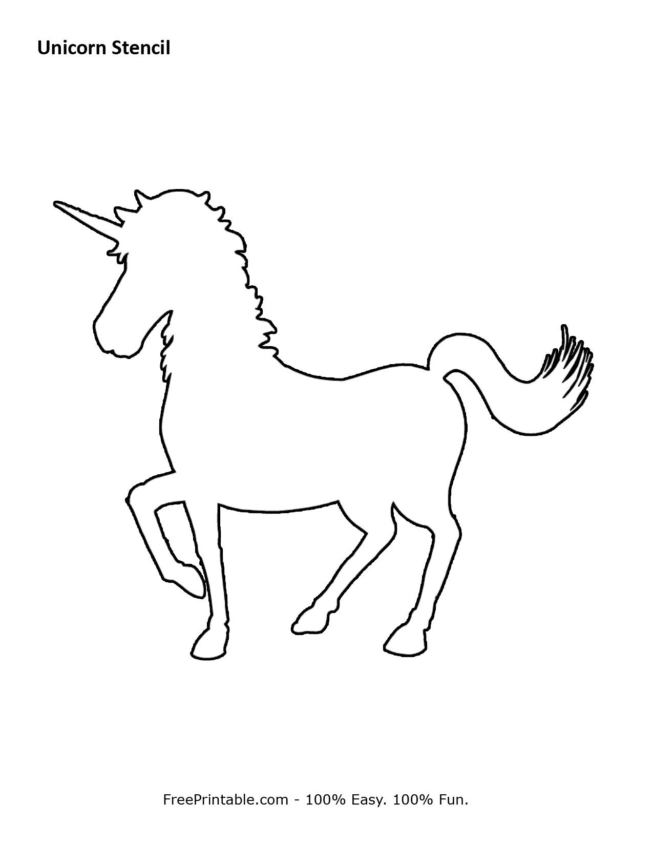 Free Printable Unicorn Stencils | Crafts & Sewing | Pinterest - Free Printable Stencils