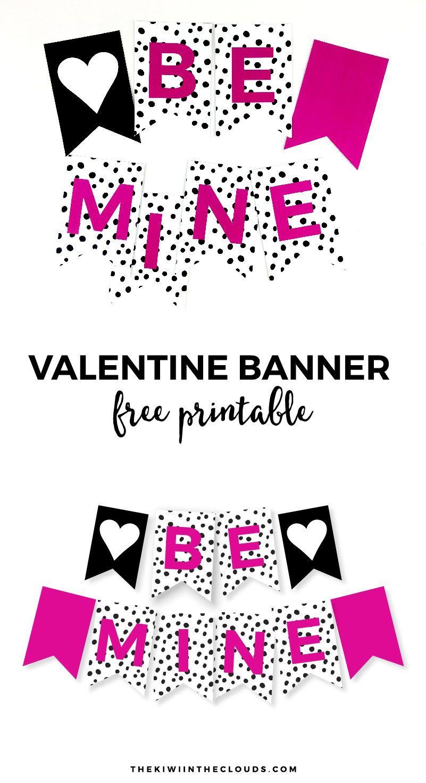 Free Printable Valentine Banner   Simple Everyday Mom   Printable - Free Printable Valentine Decorations