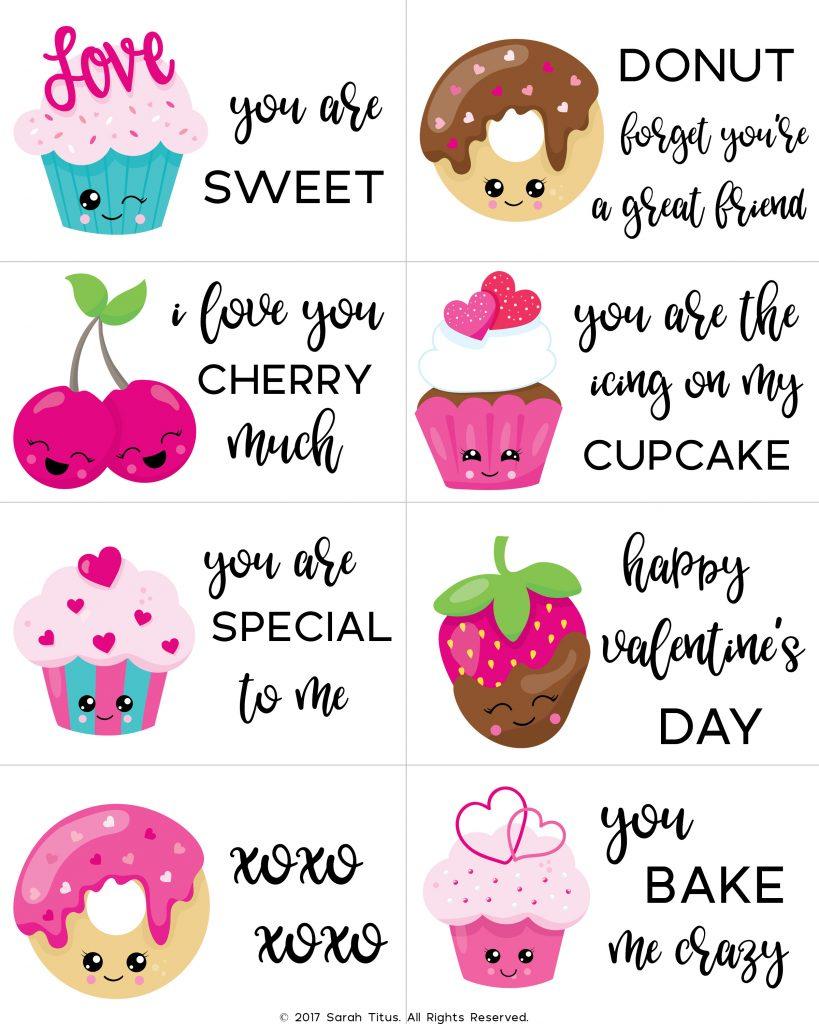Free Printable Valentine Cards For Kids - Sarah Titus - Free Printable Valentine Graphics