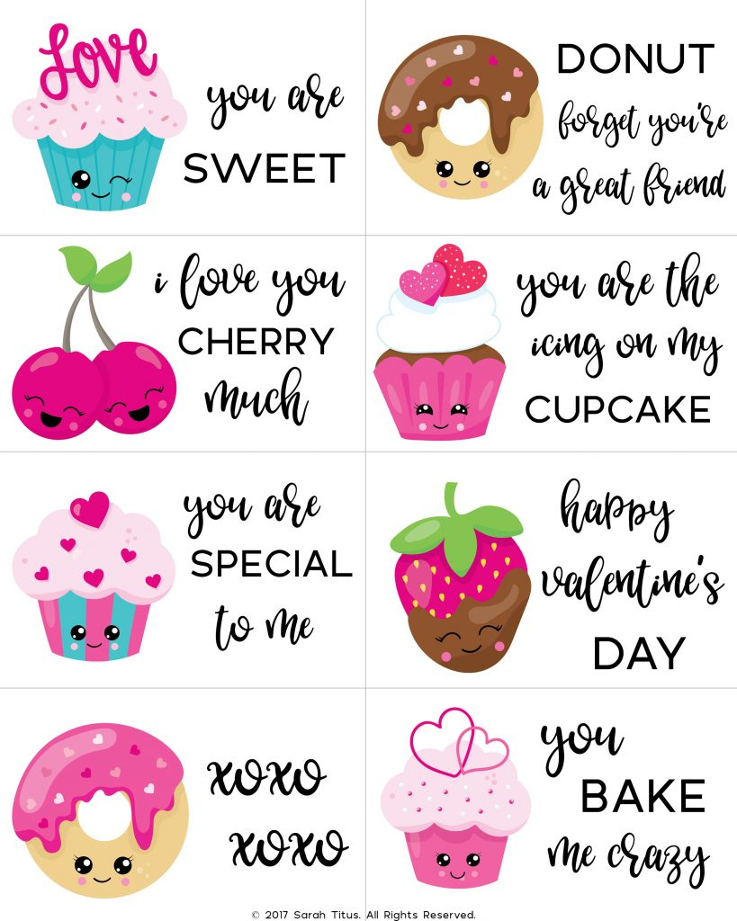 Free Printable Valentine Cards For Kids - Sarah Titus - Free Printable Valentines Day Cards Kids
