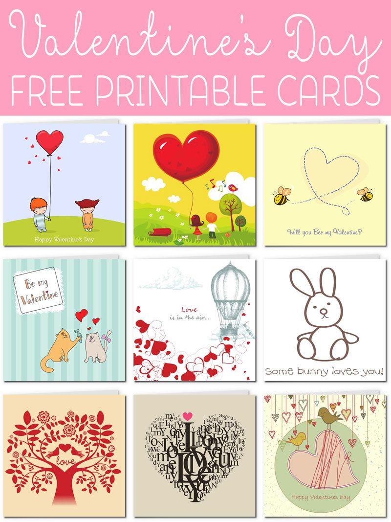 Free Printable Valentine Cards | Valentines! | Pinterest | Free - Valentine Free Printable Cards