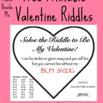 Free Printable Valentine Riddle Cards – Teach Beside Me   Free Printable Riddles