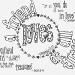"""Free Printable Valentine's Coloring Page With Bible Verses  """"a   Free Printable Bff Coloring Pages"""