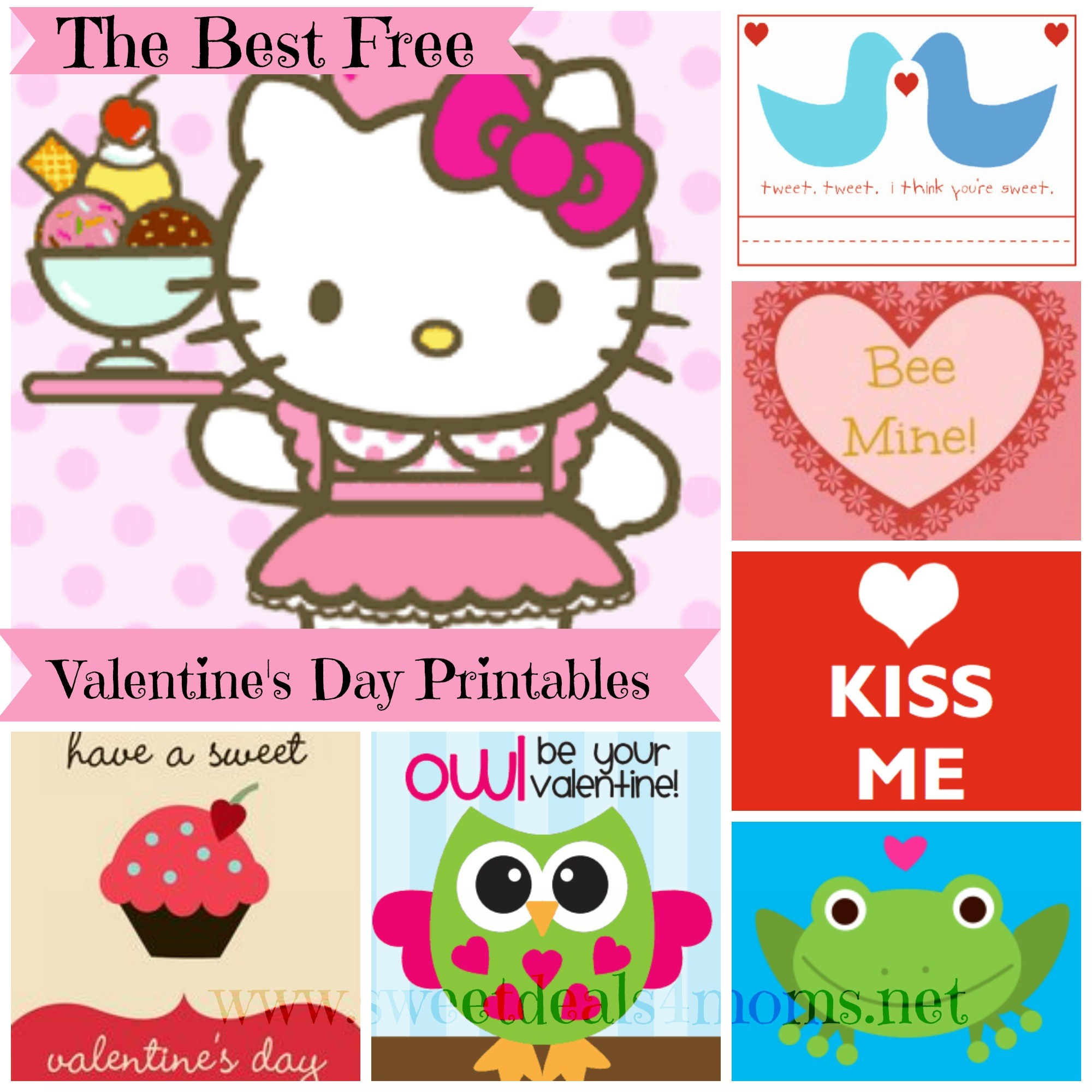Free Printable Valentines Day Card Roundup - Sweet Deals 4 Moms - Free Printable Valentines Day Cards For Mom And Dad
