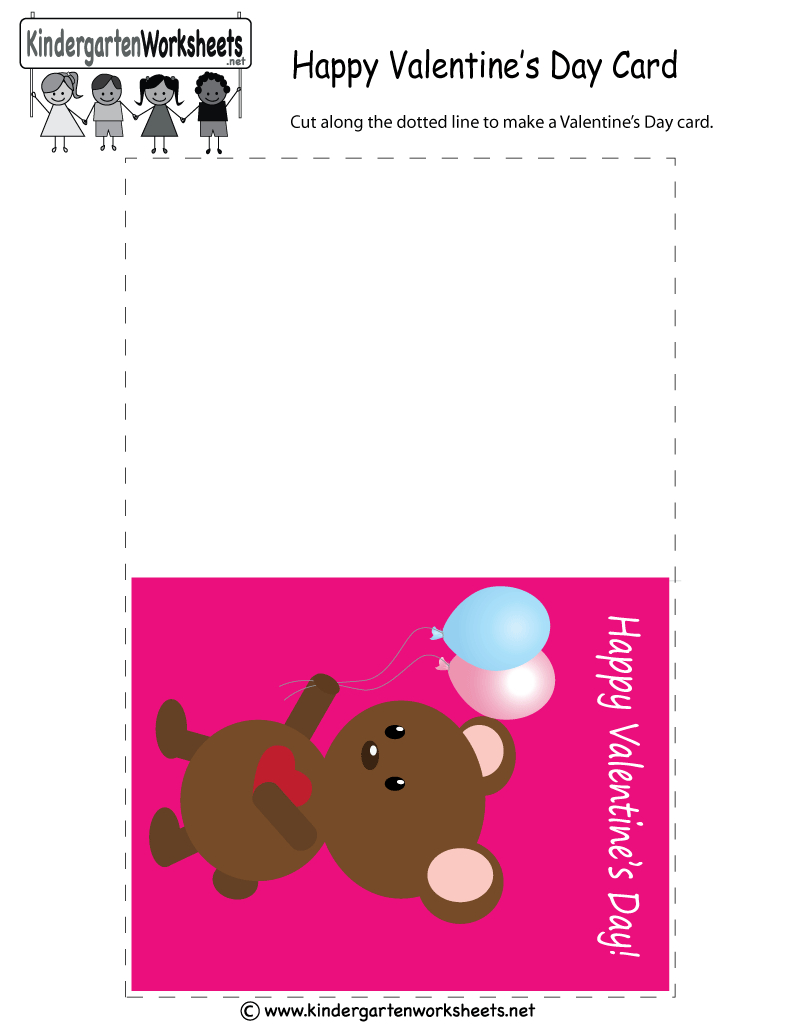 Free Printable Valentine's Day Greeting Card For Kindergarten - Free Printable Teacher's Day Greeting Cards