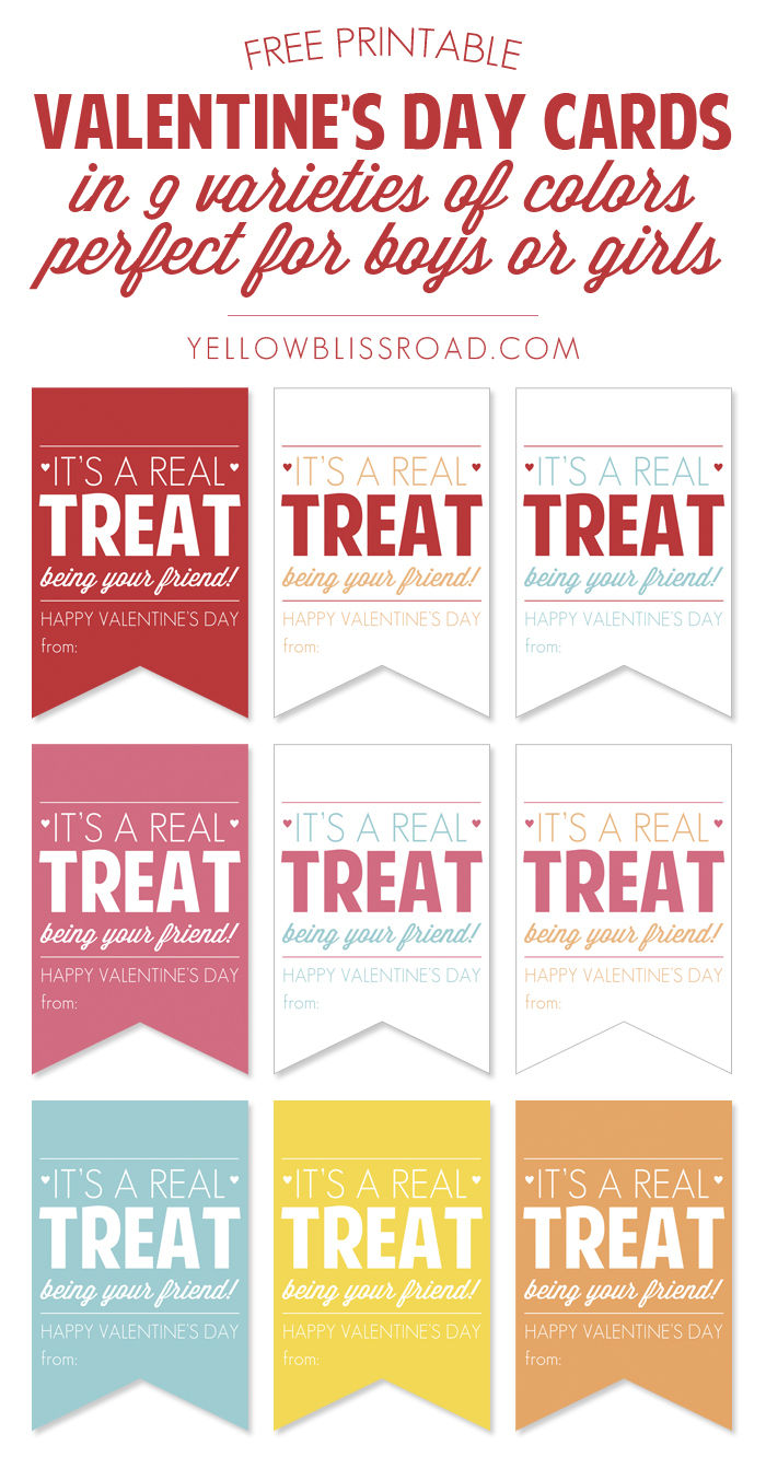 Free Printable Valentine's Treat Tags - Yellow Bliss Road - Free Printable Heart Labels