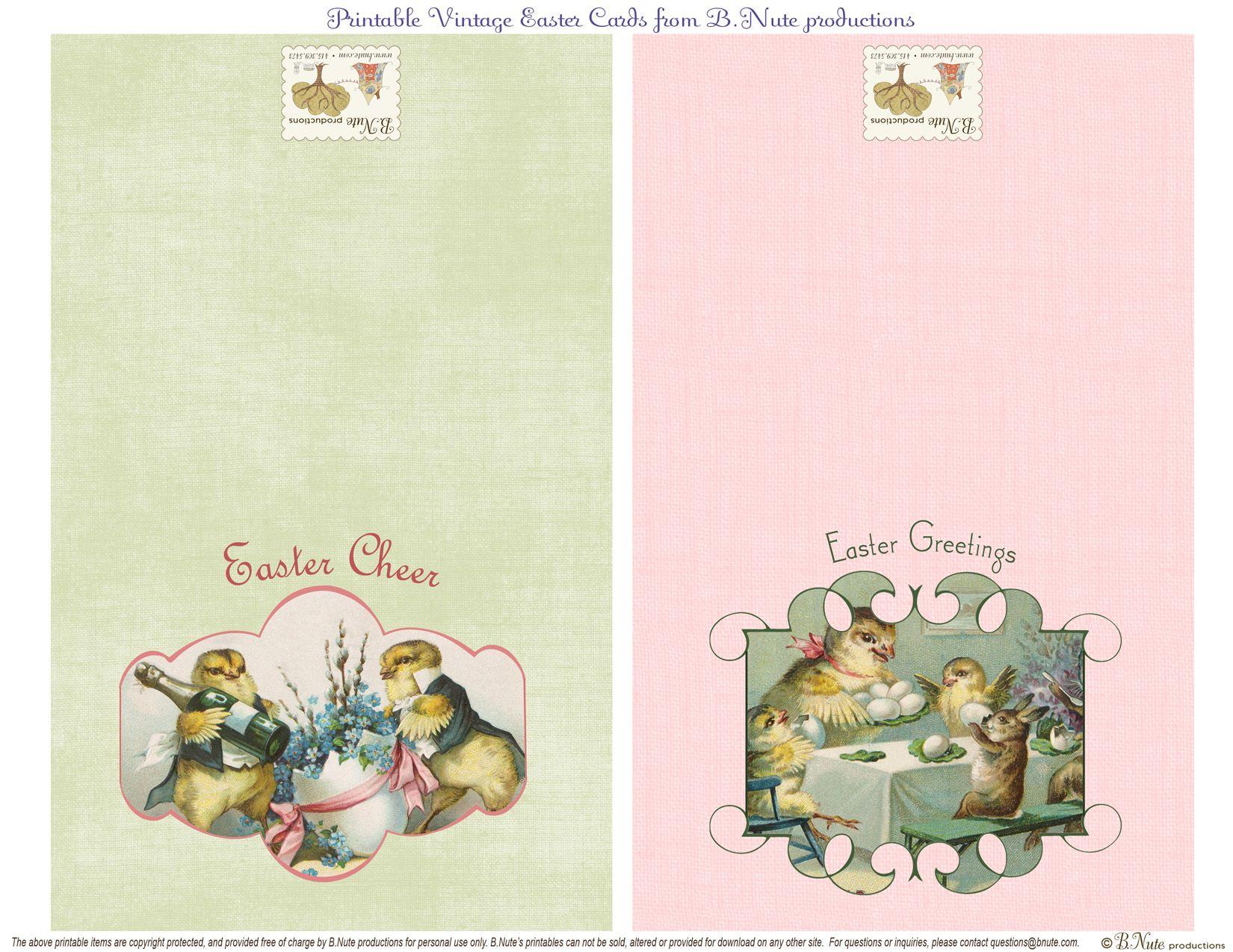 Free Printable Vintage Easter Folded Cards. I Finally Found These - Free Printable Vintage Easter Images
