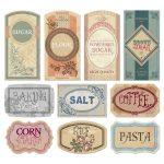 Free Printable Vintage Labels For Jars And Canisters To Organize   Free Printable Vintage Pictures
