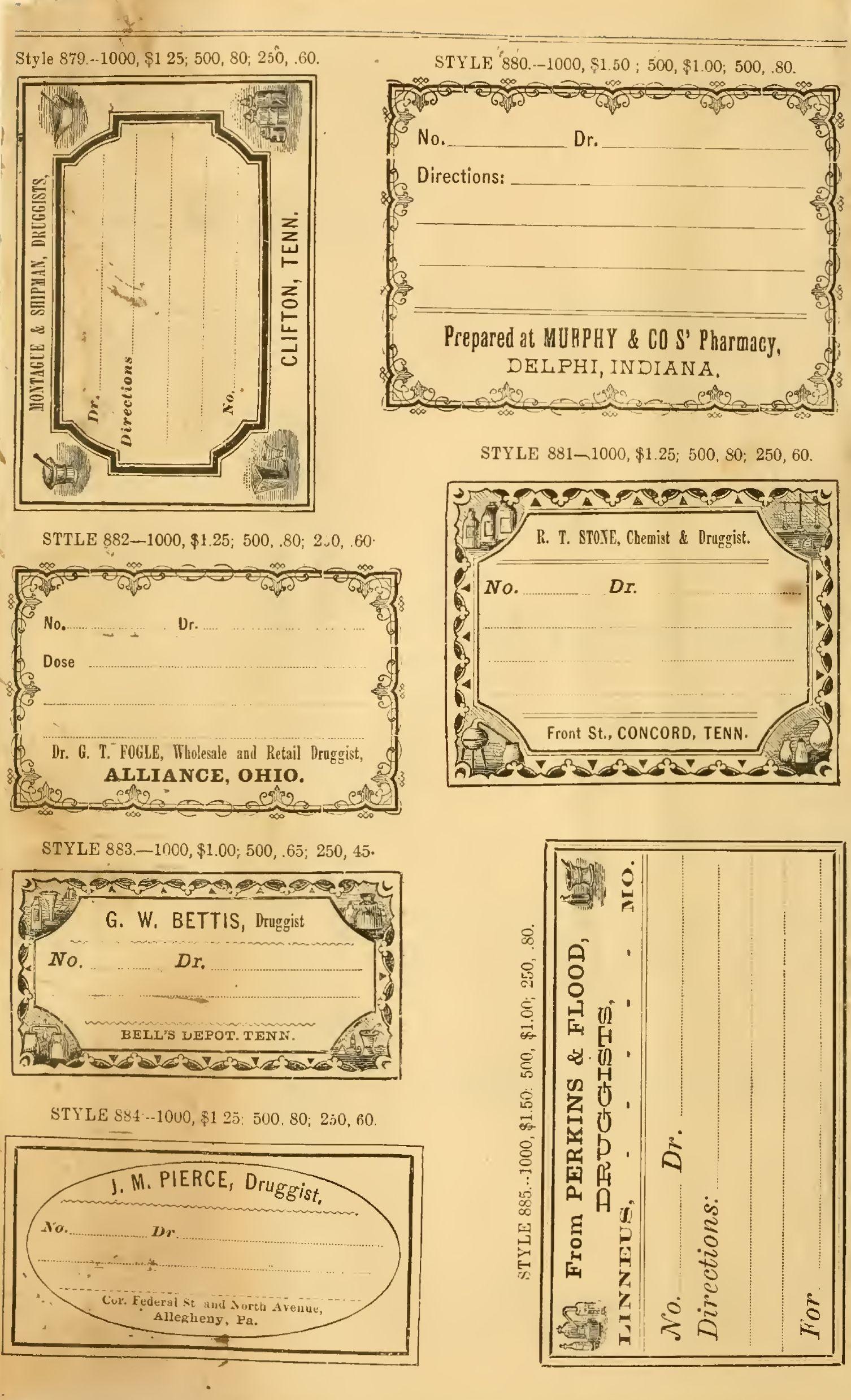 Free Printable Vintage Pharmacy & Apothecary Labels | The - Free Printable Vintage Labels