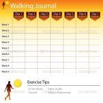Free Printable Walking Log Chart   Walking Journal Chart   Stock   Free Printable Walking Log
