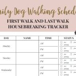 Free Printable Walking The Dog Log   How To Set A Schedule And   Free Printable Walking Log