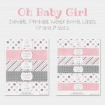 Free Printable Water Bottle Labels For Girl Baby Shower   Baby   Free Printable Water Bottle Labels For Baby Shower