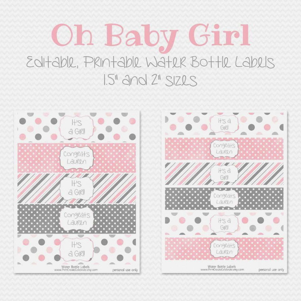 Free Printable Water Bottle Labels For Girl Baby Shower - Baby - Free Printable Water Bottle Labels For Baby Shower