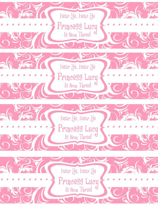 Free Printable Water Bottle Labels Template | Kreatief | Pinterest - Free Printable Sweet 16 Labels