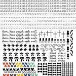 Free Printable Waterslide Nail Art Decals. ネイルシール用データ   Free Printable Nail Art Designs