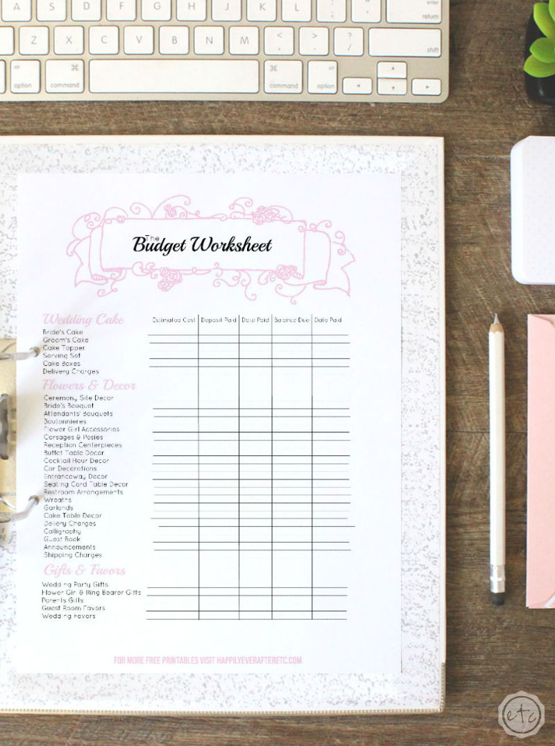 Free Printable Wedding Binder - Money Saving Mom® : Money Saving Mom® - Free Printable Wedding Binder Templates