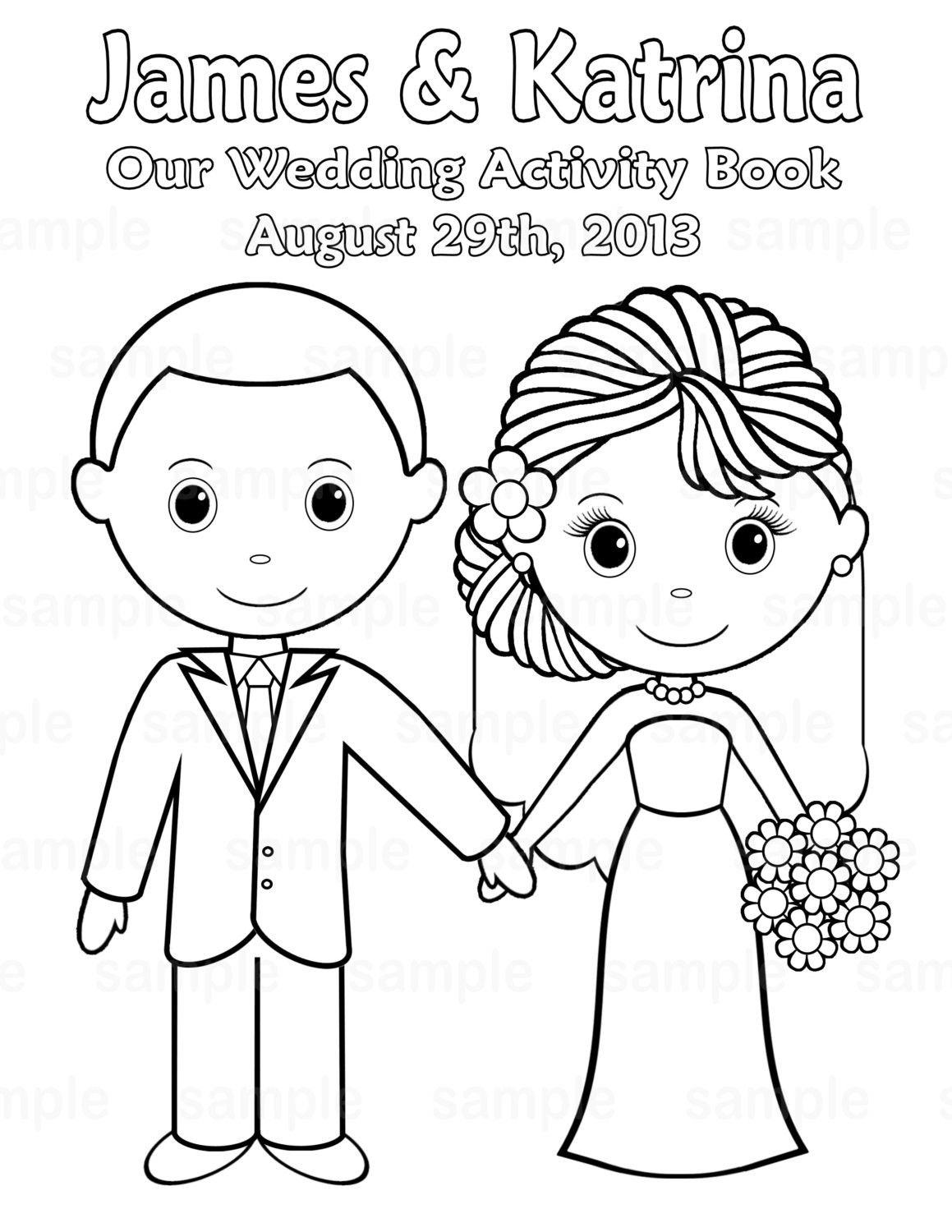 Free Printable Wedding Coloring Pages | Free Printable Wedding - Free Printable Personalized Children's Books