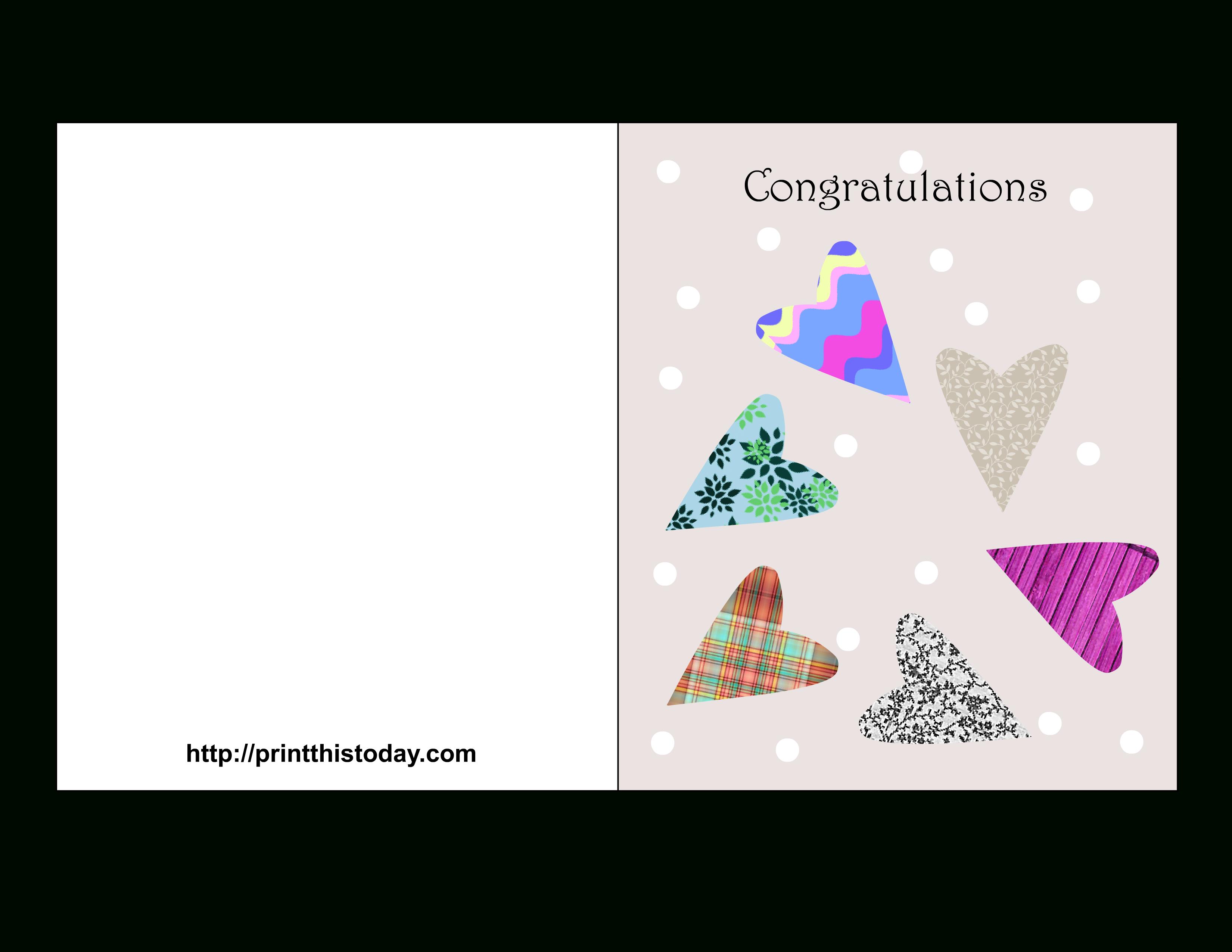 Free Printable Wedding Congratulations Cards - Free Printable Congratulations Cards