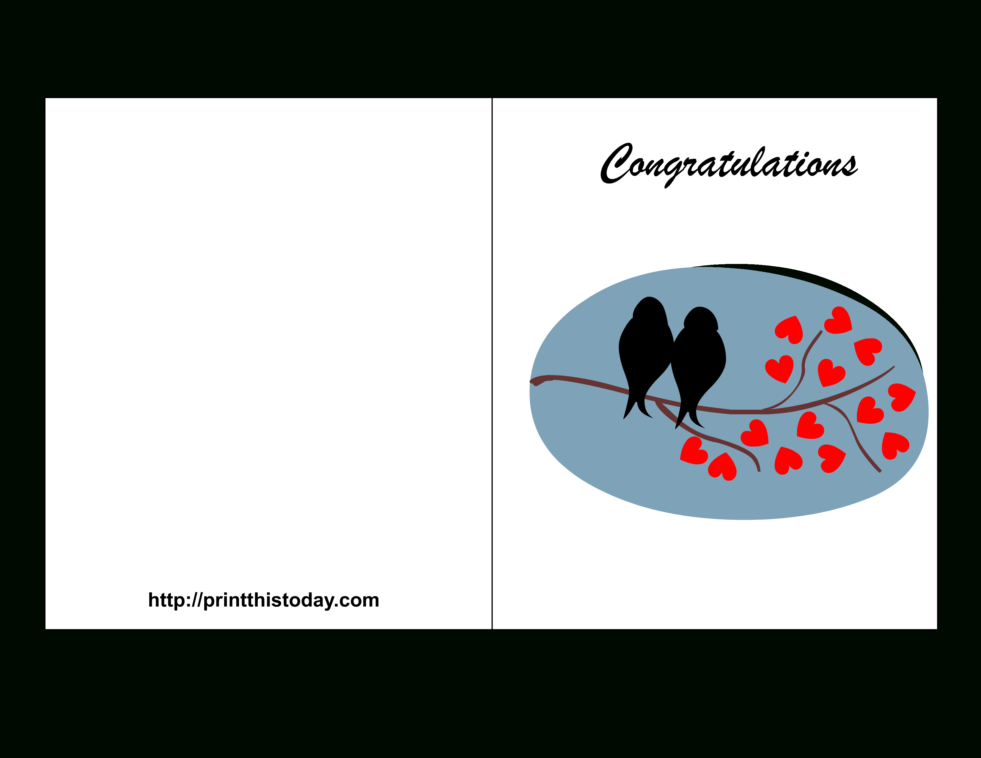 Free Printable Wedding Congratulations Cards - Free Printable Greeting Card Sentiments