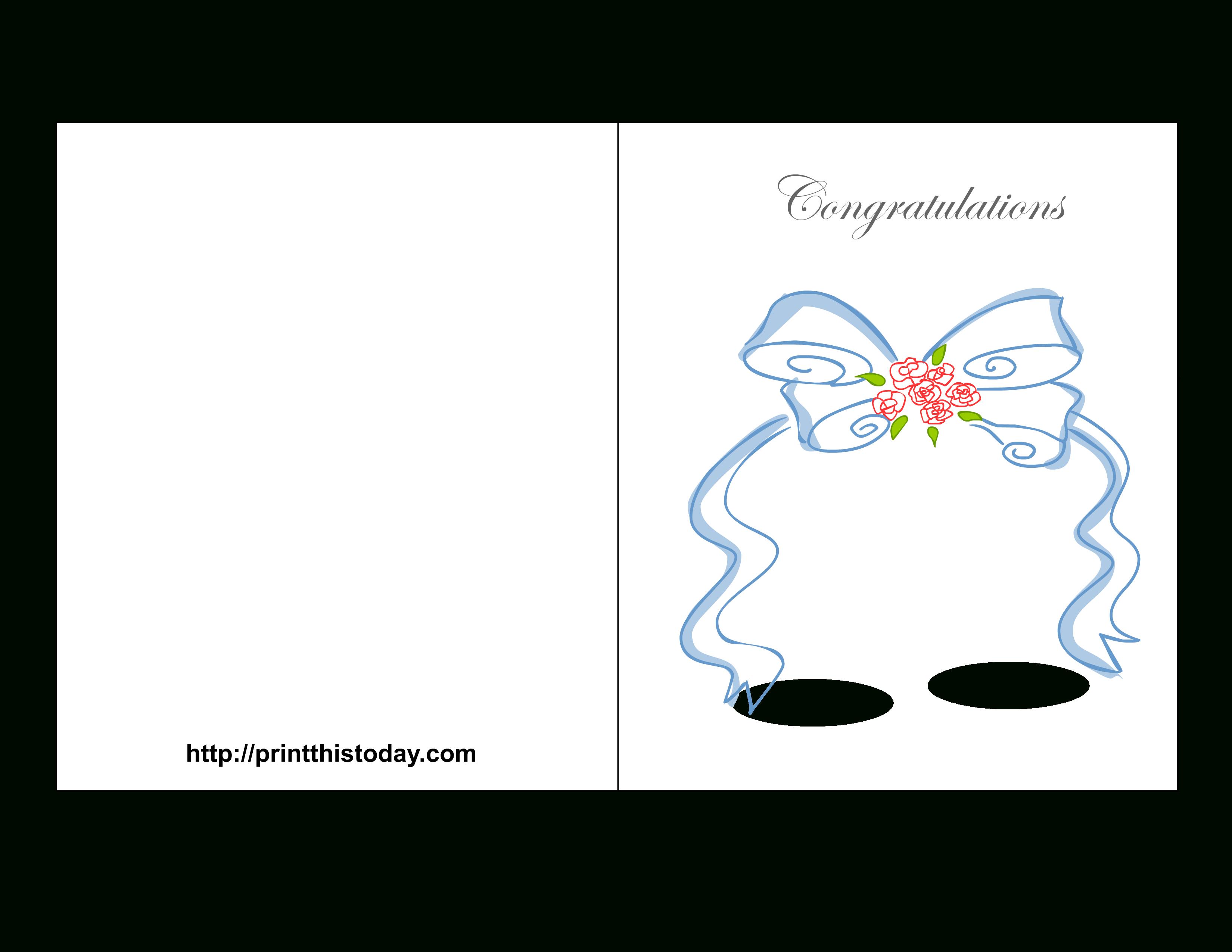 Free Printable Wedding Congratulations Cards - Free Printable Wedding Congratulations Greeting Cards