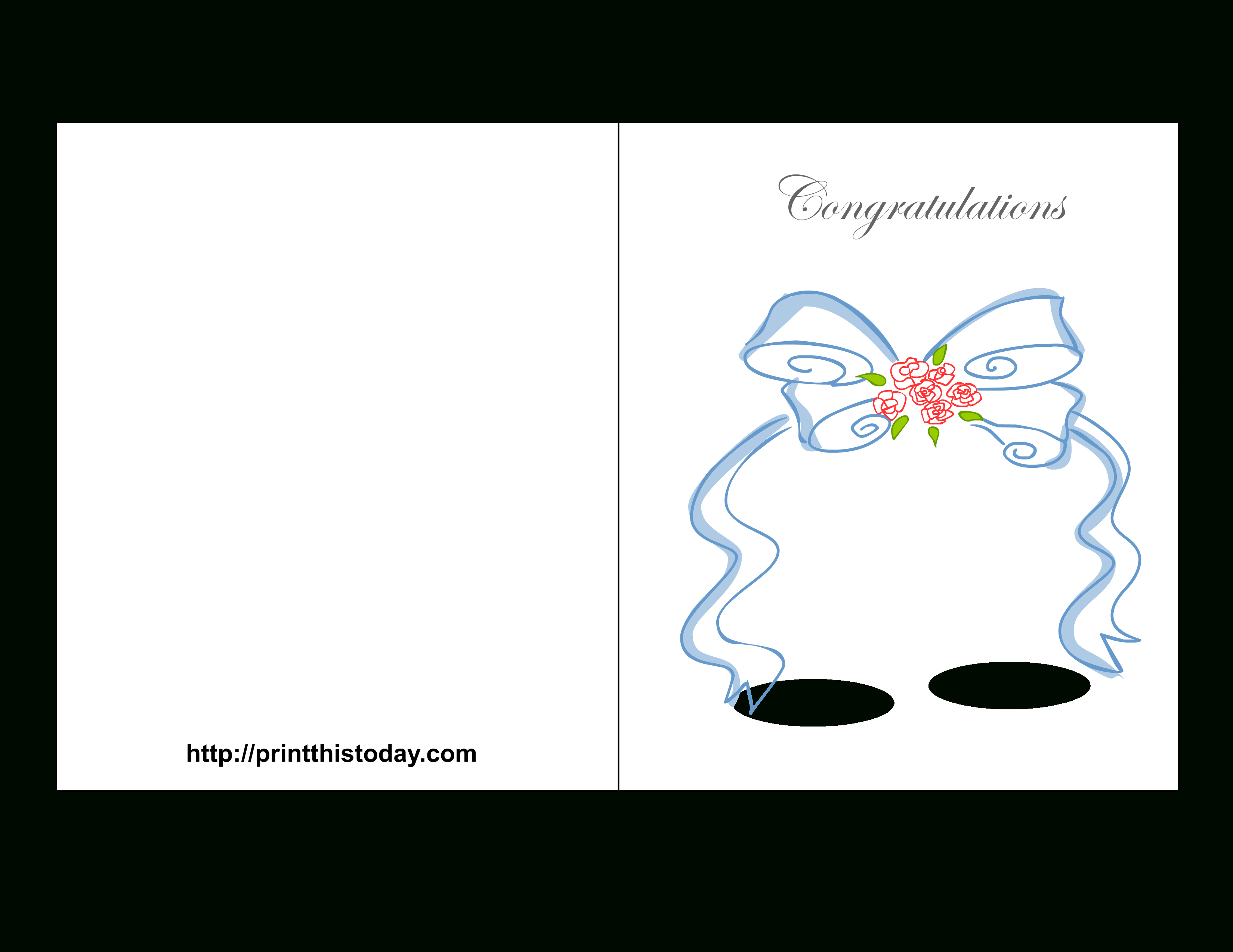 Free Printable Wedding Congratulations Cards - Free Printable Wedding Shower Greeting Cards