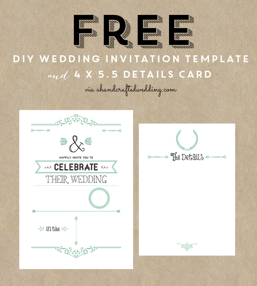 Free Printable Wedding Invitation Template | ** All Things Wedding - Free Printable Wedding Inserts