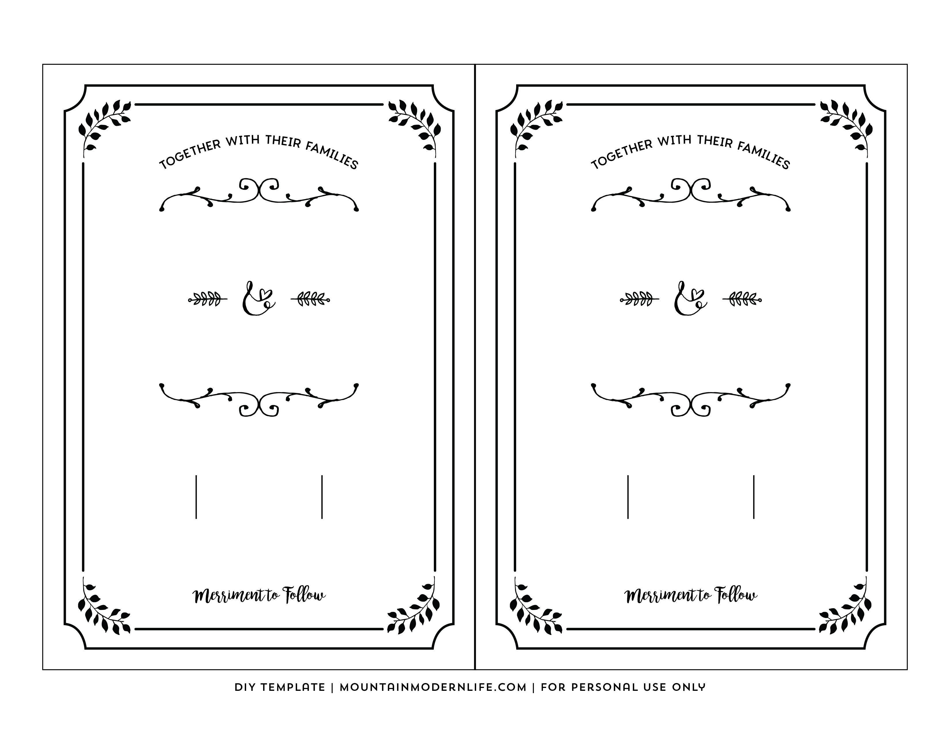 Free Printable Wedding Invitation Template - Free Printable Invitations